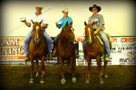 1D 1ST BUCKLE WINNERS- RANDY WARNER, ALISON WARNER & JAMES HANSEN