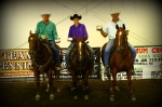 2D 1ST BUCKLE WINNERS- JENE KASPERBAUER, MARK KASPERBAUER & RANDY WARNER
